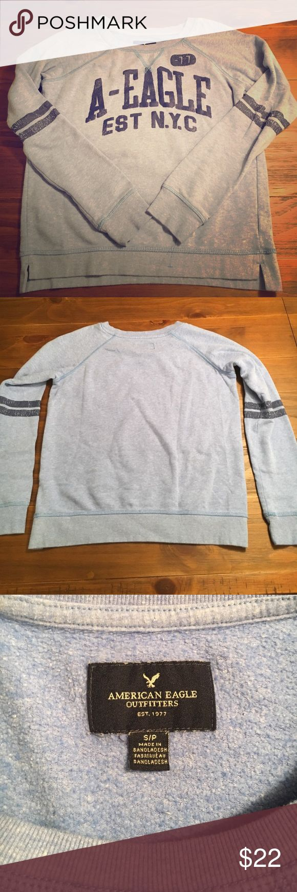 American Eagle sweatshirt Cute, perfect condition! Good to throw over a tank 😊 Size S American Eagle Outfitters Tops Sweatshirts & Hoodies