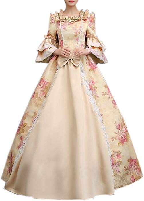e5656c80264c Ladies Medieval Renaissance Victorian Dresses Masquerade Costumes Queen  Ball Gown Blonde Custom Size
