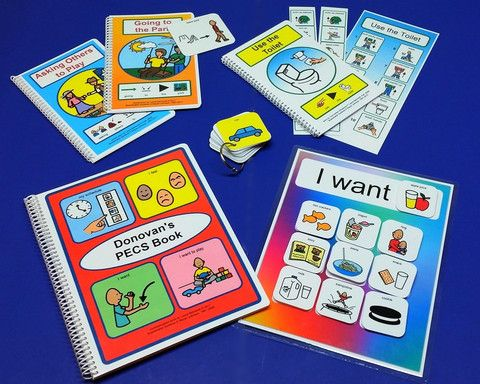 Complete Autism Visual Aids PECS Set - with 100 PECS, Schedule Book, I Want chart, Social Stories and More!