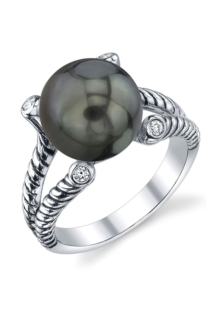 Find This Pin And More On Black Pearl Rings
