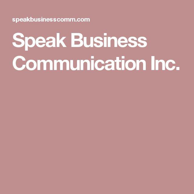 Speak Business Communication Inc.