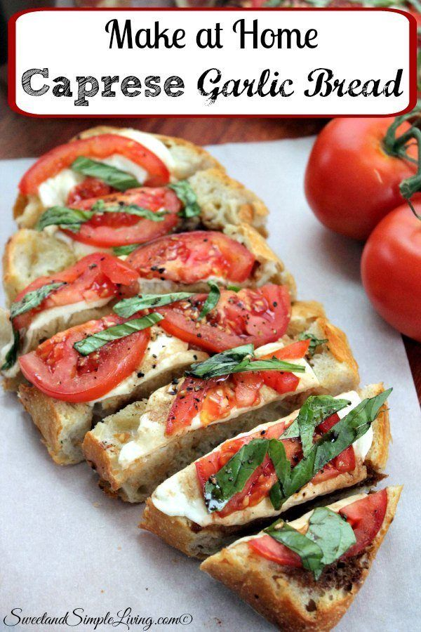 Doesn't this Make at Home Caprese Garlic Bread look soooo yummy? Well, it tastes yummy too and you can make it at home, yourself anytime you want.