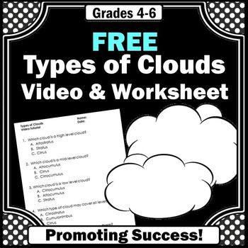 Types of Clouds: Here is a free types of clouds worksheet and answer key to