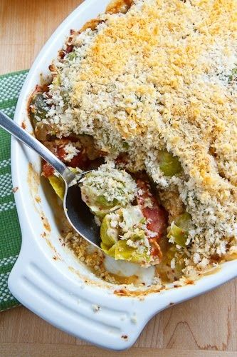 Brussels Sprouts With Smoked Bacon In A Mustard Cream Topped With A Parmesan… - Click for More...