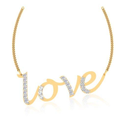 The Delnaz Love Diamond Pendant P-0035YG