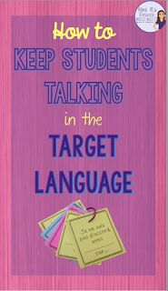 How to keep students talking in the target language - Check out these great tips for helping your FRENCH students stay in the target language. Pick up some FREE sentence starters for intermediate and advanced conversations. Click here to see more!