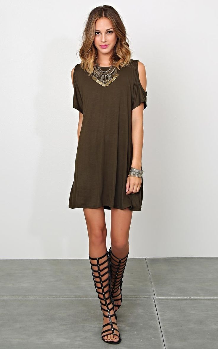 Give Him The Cold Shoulder Knit Tunic - New Arrivals