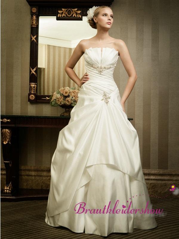 16 best Brautkleid Trägerlos images on Pinterest | Short wedding ...