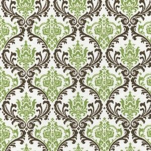 Damask Shower Curtain If I Do Green Black And White