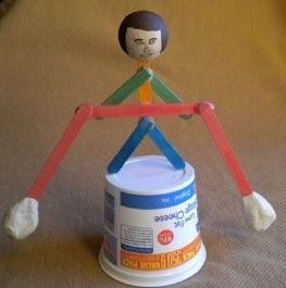 Science idea: what is center of gravity/balance? make a balancing person