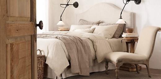 : Bedroom Decor, Restoration Hardware, Camelback Slipcovered, Bedroom ...
