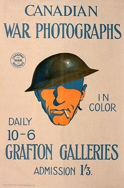 WW1 poster, Canadian War Photographs - pin by Paolo Marzioli
