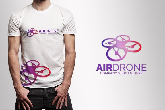 Air Drone Logo by eSSeGraphic on Creative Market