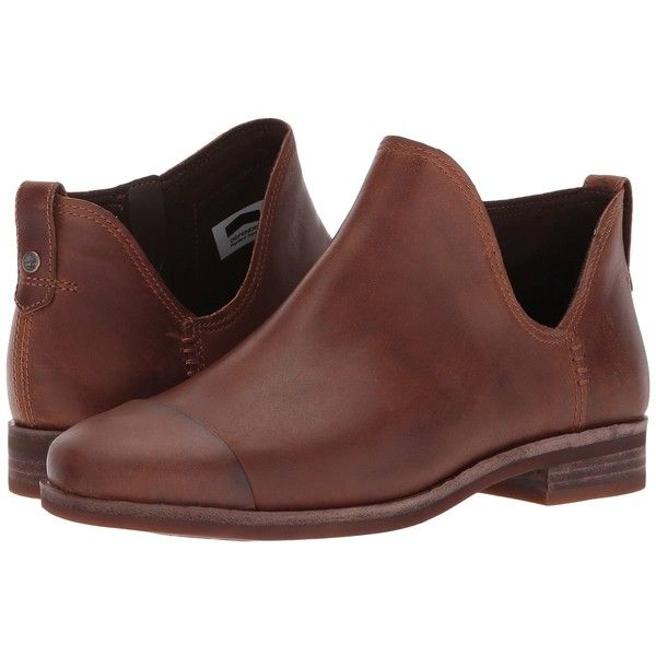 Timberland Somers Falls Ankle Boot (Medium Brown Full-Grain) Women's... (430 PLN) ❤ liked on Polyvore featuring shoes, boots, ankle booties, ankle boots, short heel boots, brown booties, low heel ankle boots and brown ankle booties