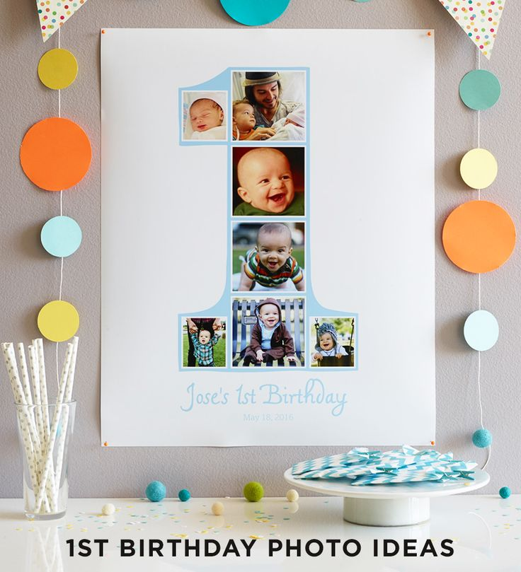 Capture every moment of their first year with a photo collage of their funniest and most adorable faces. Get first birthday photo ideas from Shutterfly.