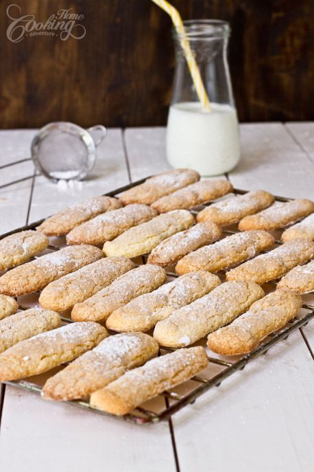 Homemade Ladyfingers- - easy recipe for these amazing cookies # recipe #ladyfingers