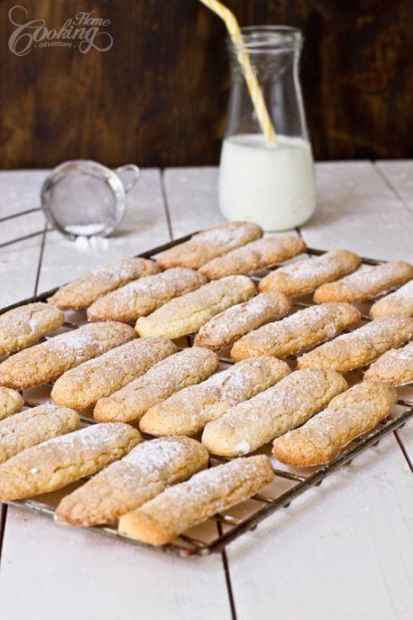 Homemade Ladyfingers- - easy recipe for these amazing cookies # recipe #ladyfingers