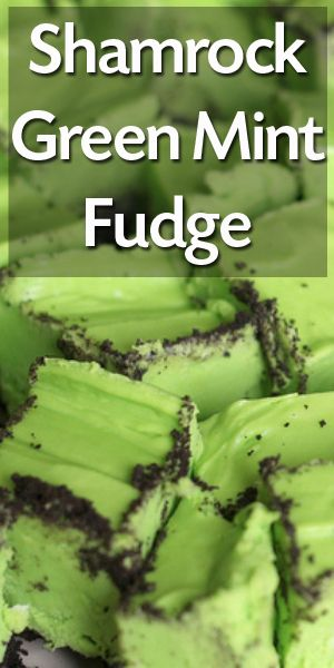Shamrock Fudge for St. Patrick's Day