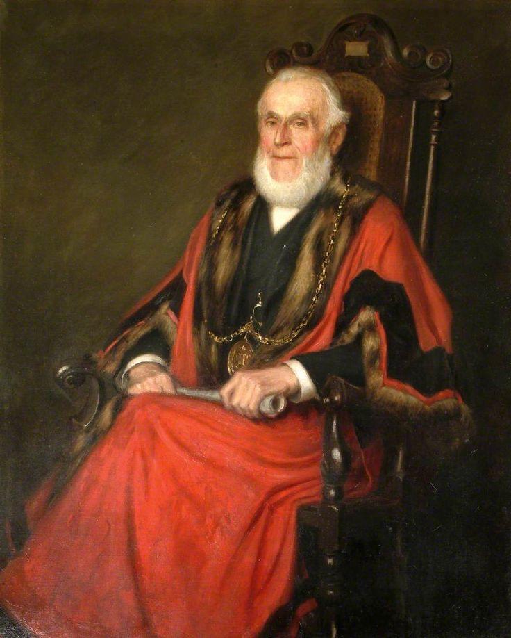 1907,  Alderman Thomas Rea,  Walter J. Donne (1867–1930).  Godalming Town Council Municipal Buildings.
