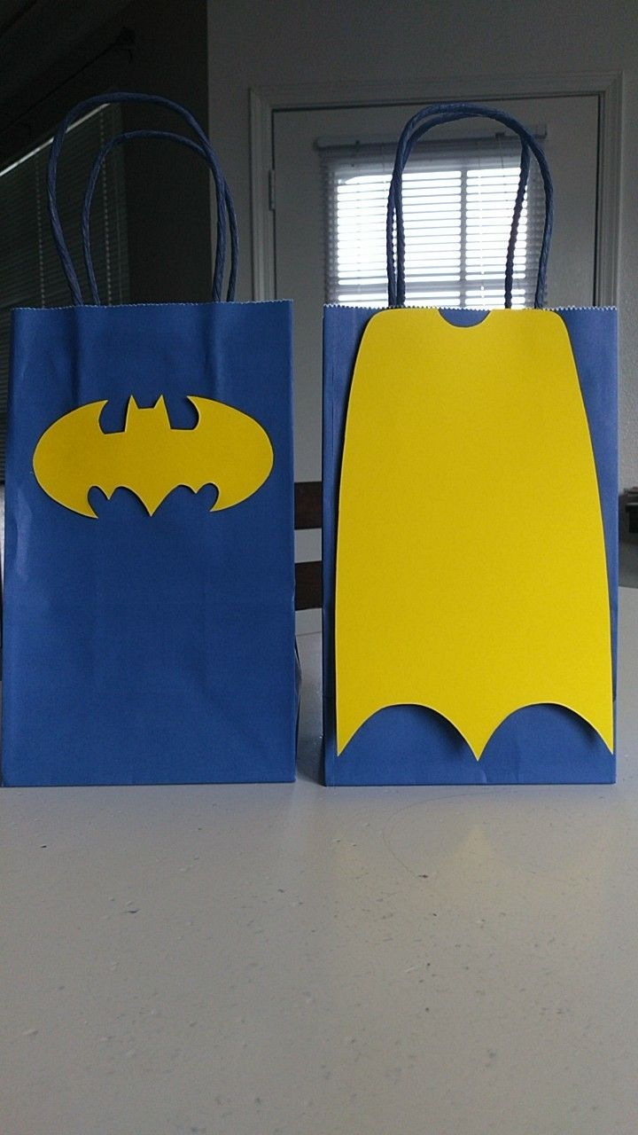 Batman Birthday Party Favor Bags Supplies Gifts Prizes Decorations Loot