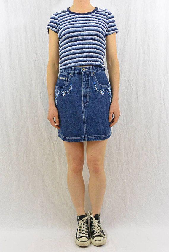 17 best ideas about high waisted denim skirt on