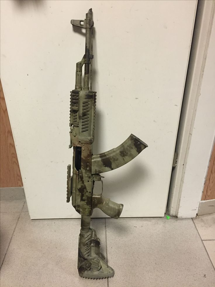 AK-47 with rail & camoflauge
