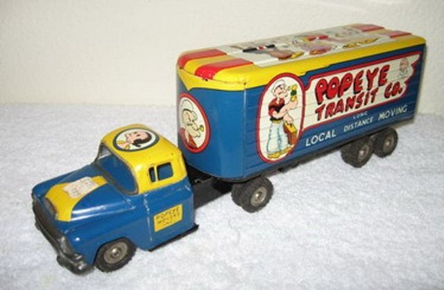 Japan Linemar Popeye Transit Co. Tin Truck~~