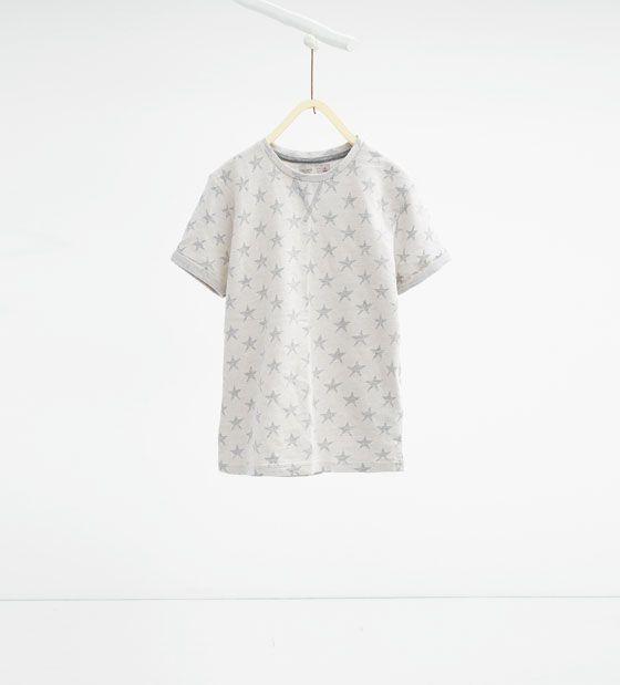 Image 1 of Jacquard star T-shirt from Zara