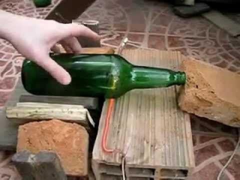 Cortar botella de vidrio - Método fácil y rápido (cut glass bottle - easy way)