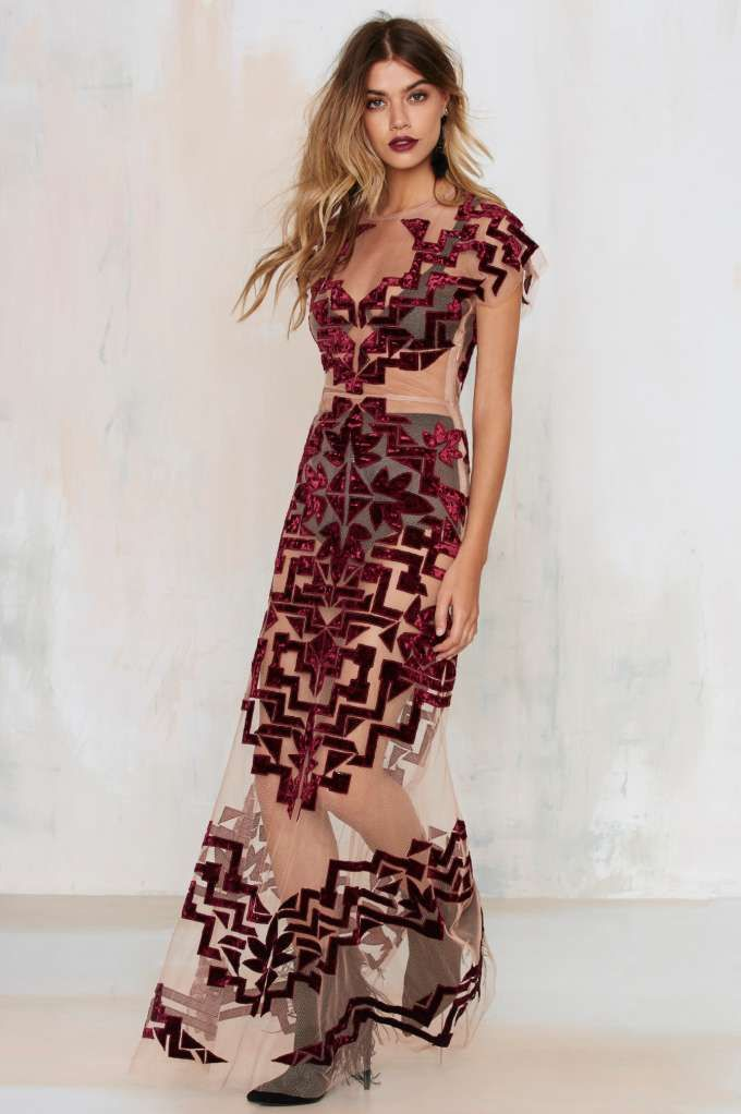 Prepare to crush 'em in this jaw-dropping maxi dress.