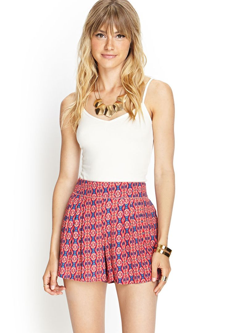 High-Waisted Woven Shorts | FOREVER21 #F21Contemporary