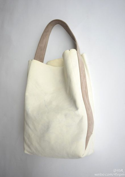 Deep tote bag with short single strap--my kind of bag!