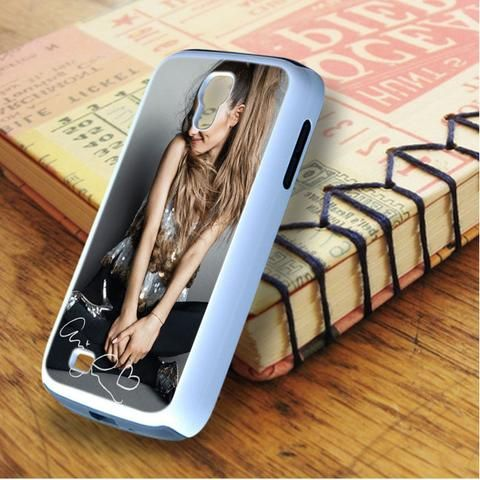 Ariana Grande Smile Cute Signature Samsung Galaxy S4 Case