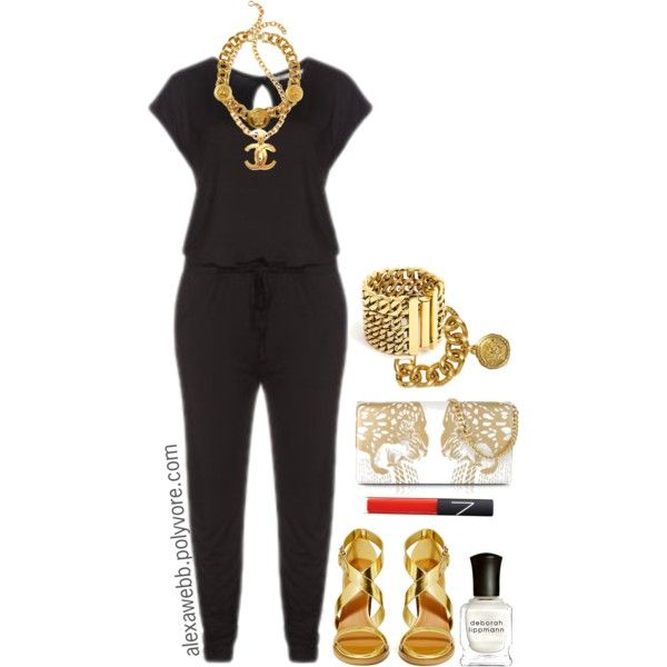 "#plus #size #fashion  ""Plus Size - Jump Suit Glam"" by alexawebb on Polyvore"