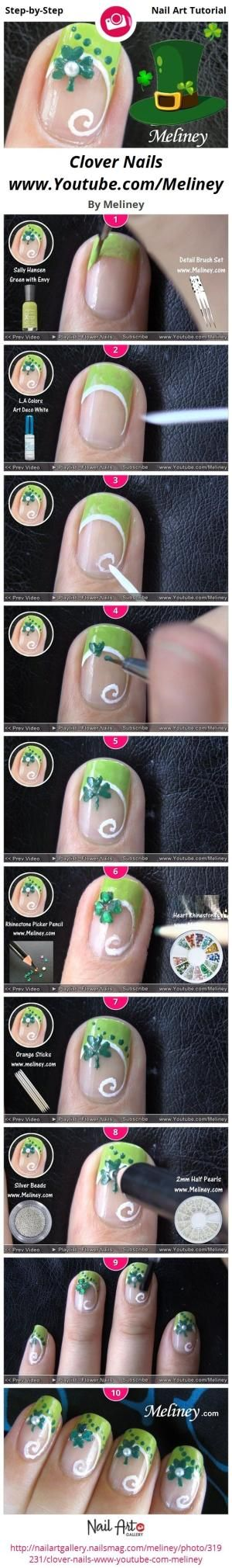St. Patrick's Day nails by jacquelyn