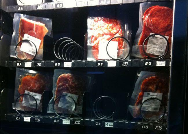 Máquina expendedora de churrascos y chuletones: