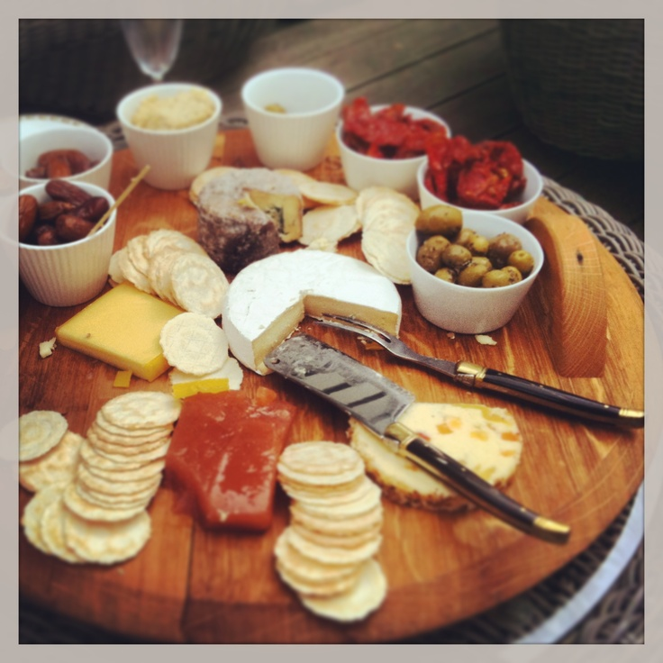 Check out this great looking cheese platter. Good to see our wine barrel cheese board, handcrafted by Sebastion Hanse, the Cellar Master at Trinity Hill Wines, and the Laguiole cheese serving set being put to great use. Check out http://www.thegoodstuff.co.nz/Our-Products/Accessories/Hand-crafted-Wine-Barrel-Cheese-Board so you can create your own amazing cheese board.