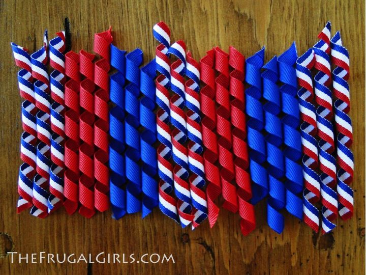 How to make korker hair bows--curling the ribbon tutorial