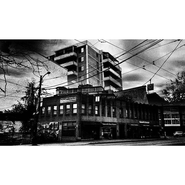 Imaginary city / re-constructing the landscape.  #vancouverinblackandwhite #doubleexposure#vancity #moodygram #blackwhitephotography #bnw#monochrome #bnw_city#bnw_creatives #noir_vision#simply_noir_blanc #instablackandwhite#insta_bw #streetphotography_bnw