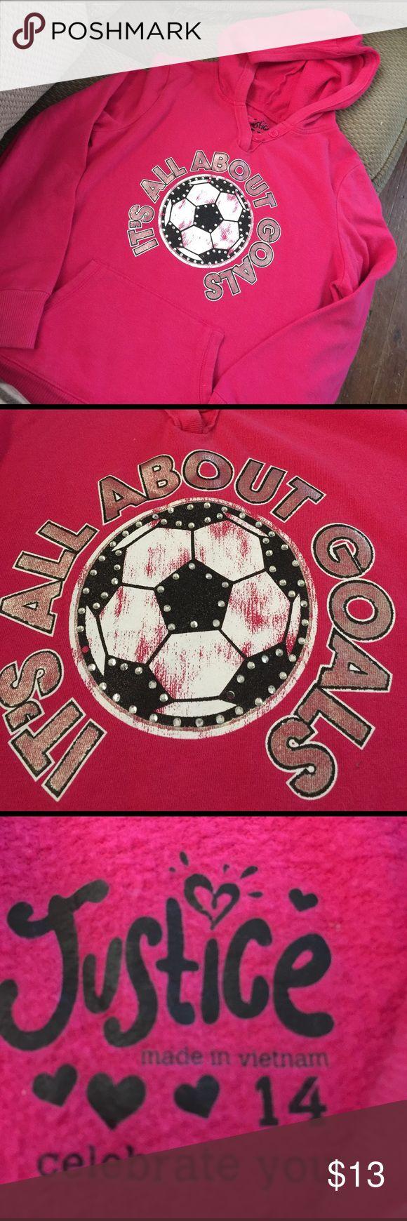Girls Justice soccer hoodie Girls Justice soccer hoodie Justice Shirts & Tops Sweatshirts & Hoodies