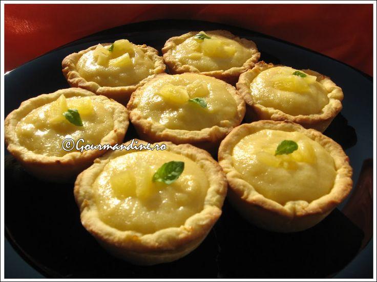 Tartellette cu crema de ananas