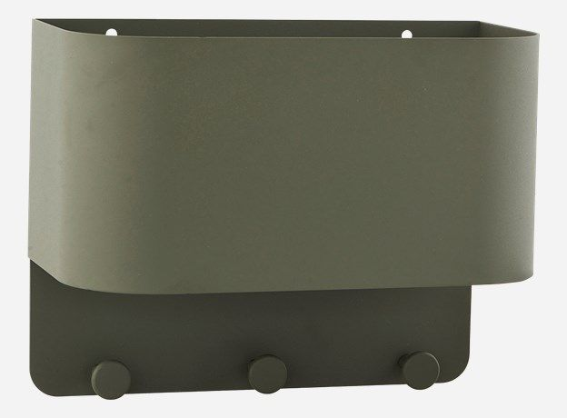 Pj0203 - Knag/lomme til væg, Pock, army, 38x15 cm, h.: 24 cm