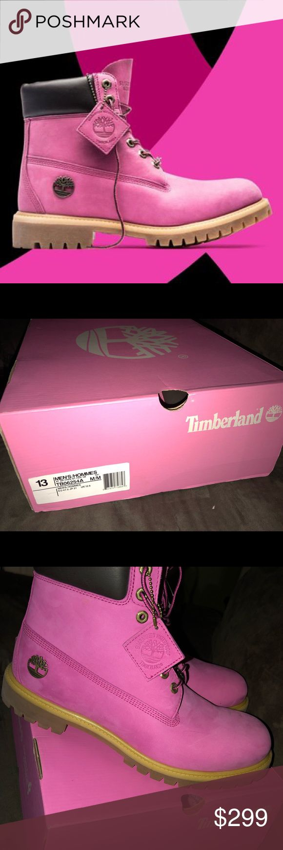 "Men's Timberland Breast Cancer Pink Lim. Edition Timberland 6"" Premium Susan G. Komen Breast Cancer Pink Lim. Edition  BRAND NEW IN BOX!! SIZE SOLD OUT EVERYWHERE!! 100% authentic Timberland. These are LIMITED EDITION Susan G. Komen for the fight against breast cancer. Size:13 Color: Pink Timberland Shoes Boots"