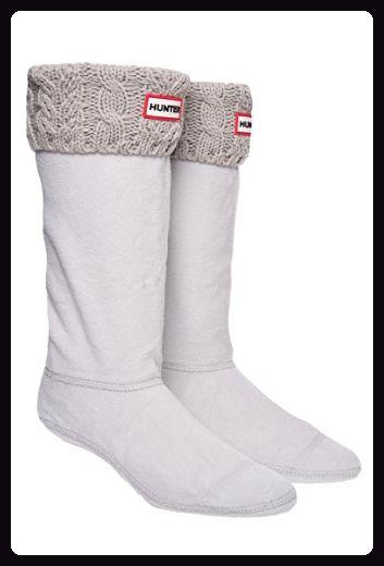 Hunter Dual Cable Knit Boot Sock Greige - Stiefel für frauen (*Partner-Link)