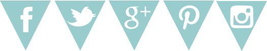 El Perro de Papel: Diseño de Blogs y Tutoriales Blogger: Iconos de Redes Sociales con Guirnaldas