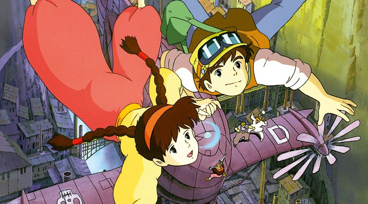Castle in the Sky: Definitely a movie with Steampunk elements in it: Robots, flying airships, air pirates and more... Movie made by Hayao  Miyazaki, Ghibli Films.