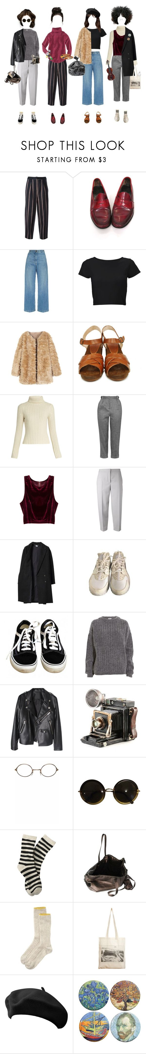 """""""We Are All Artists"""" by silentmoonchild ❤ liked on Polyvore featuring Elizabeth and James, H&M, Rachel Comey, Lipsy, BOSABO, Ryan Roche, Topshop, Maison Margiela, Les Prairies de Paris and NIKE"""