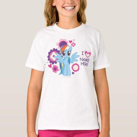 Personalized Rainbow Dash T-Shirt #rainbow #kids #clothing