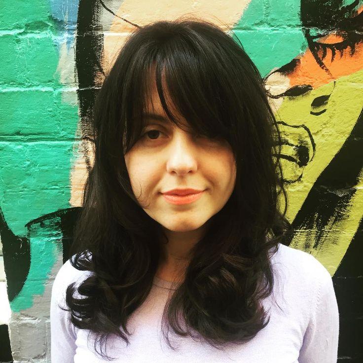 FABULOUS FRINGES • Jelena's soft new fringe has left us feeling some serious hair envy! 🎨Colour • Senior Technician Sarah 💇🏻Cut • Art Director Jude