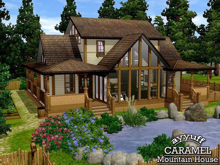 Ayyuffs Caramel Mountain House Furnished Sims 3